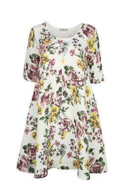 Blueberry Italia linnen jurk wit 9314-48