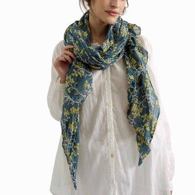 Zen Ethic Sjaal Judith 110x180 cm blauw groen