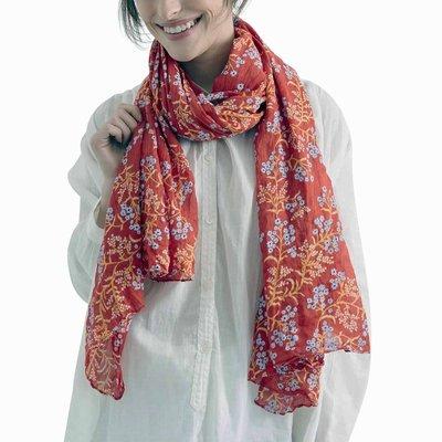 Zen Ethic Sjaal Judith 110x180 cm blauw rood oranje