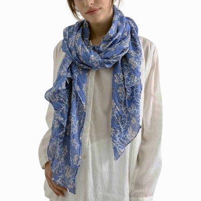 Zen Ethic Sjaal Judith 110x180 cm blauw effen