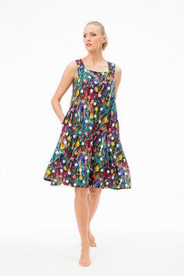 Aino jurk Hauska short multicolor flower print