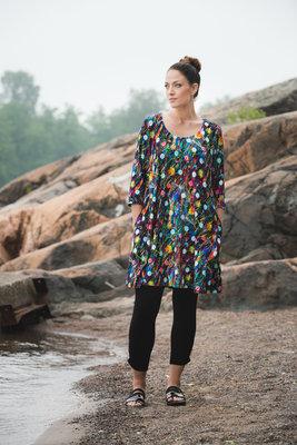 Aino jurk Tiffany multicolor flower print