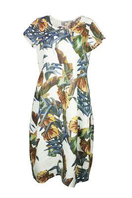 Blueberry Italia linnen jurk 9312-49 wit