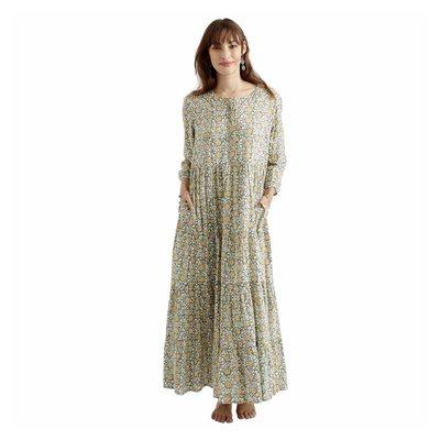 Zen Ethic zomerjurk Daisy Hibis vest country, groen bruin