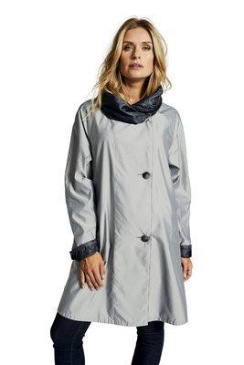 Herluf jas Storm twee zijden draagbaar zilver grijs