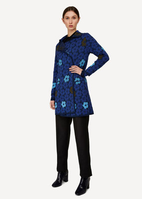 Oleana Long Cardigan 358 W blauw