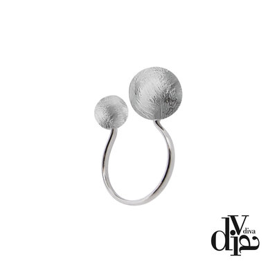 Diva Ring Eclisse Zilver Mat