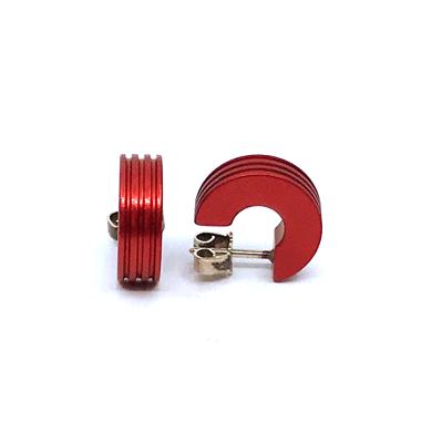 Otracosa oorbellen rond rood CR4 1,5 cm