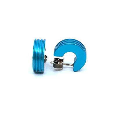 Otracosa oorbellen rond lichtblauw CR4 1,5 cm