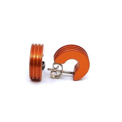 Otracosa oorbellen rond oranje CR4 1,5 cm