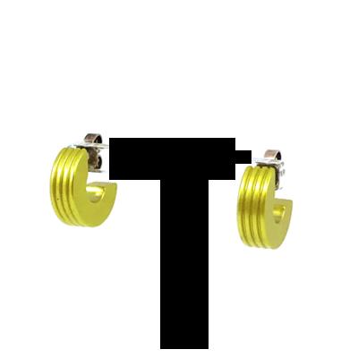 Otracosa oorbellen rond geel CR4 1,5 cm