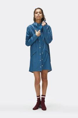 Rains Regenjas Long Jacket unisex faded blue 1202-42