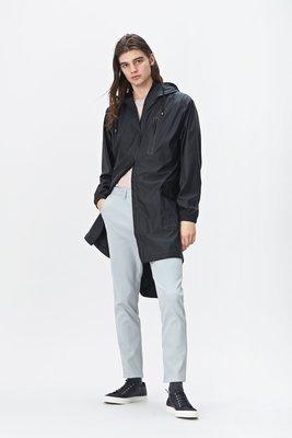 Rains Regenjas Parka Jacket unisex zwart 1233-01