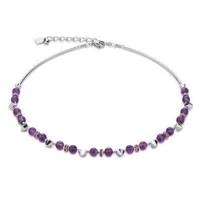 Coeur de Lion Ketting 4894/ /0800 Purple