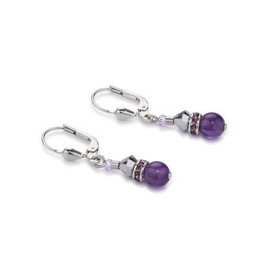 Coeur de Lion Oorbellen 4894/ /0800 Purple