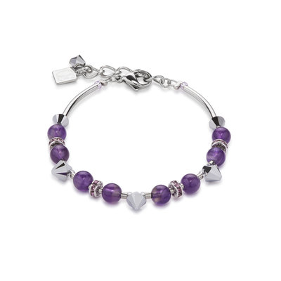 Coeur de Lion Armband 4894/ /0800 Purple