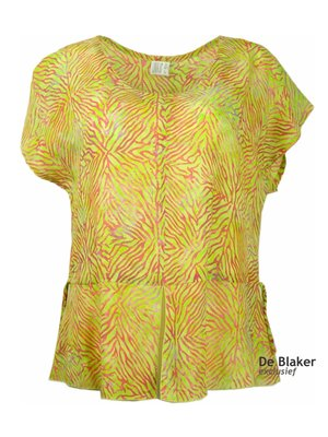 Unikat Artwear kleding top lime zebra