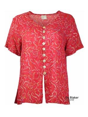 Unikat Artwear kleding blouse magenta