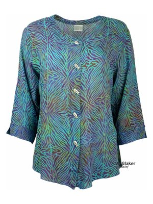 Unikat Artwear kleding blouse violett