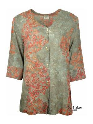 Unikat Artwear kleding blouse oranje