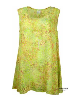 Unikat Artwear kleding top lime