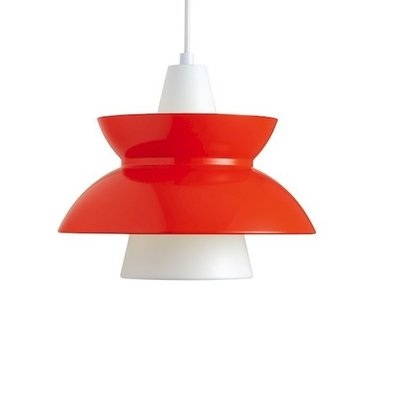 Louis Poulsen Doo-Wop hanglamp, verlichting, Rood (showroommodel opruiming)