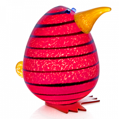 Glasstudio Borowski Kiwi Egg Red