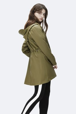 Rains Regenjas W Coat Jacket sage 1246-78
