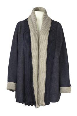 Austriandesign vest, Jacken Mantel blauw/beige