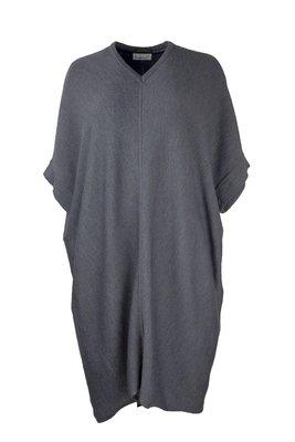 Austriandesign jurk tuniek, V-Pullover zonder mouw blauw/goud