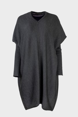 Austriandesign jurk tuniek, V-Pullover lange mouw antraciet