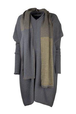 Austriandesign jurk tuniek, V-Pullover lange mouw blauw/goud
