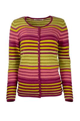 Mansted kleding Leandra vest trui fuchsia, geel