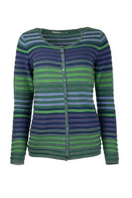 Mansted kleding Leandra vest trui blauw groen