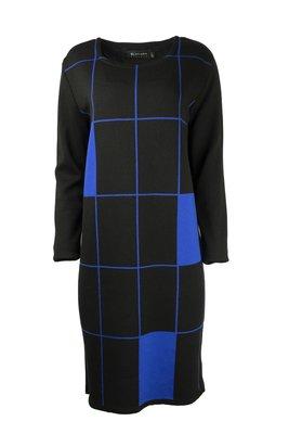 Karvinen Rastar jurk H022 zwart kobalt