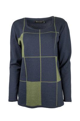Karvinen Rastar shirt H023 donkerblauw olijfgroen