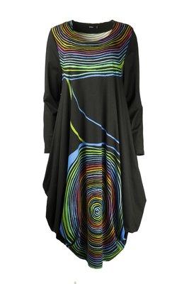 Ralston Utas jurk zwart multi
