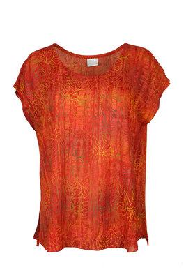 Unikat Artwear kleding blouse 180 oranje rood