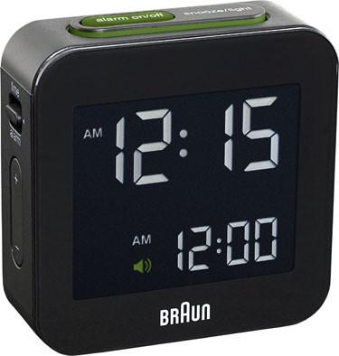 Braun digital clocks – BNC008BK-RC - reiswekker zwart