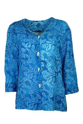 Unikat Artwear kleding blouse 120 helder blauw