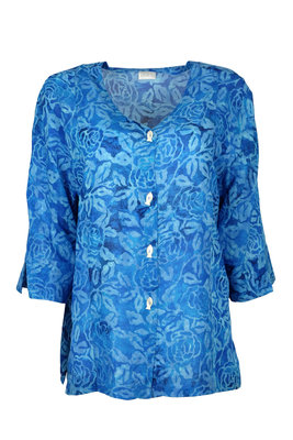 Unikat Artwear kleding blouse 122 blauw