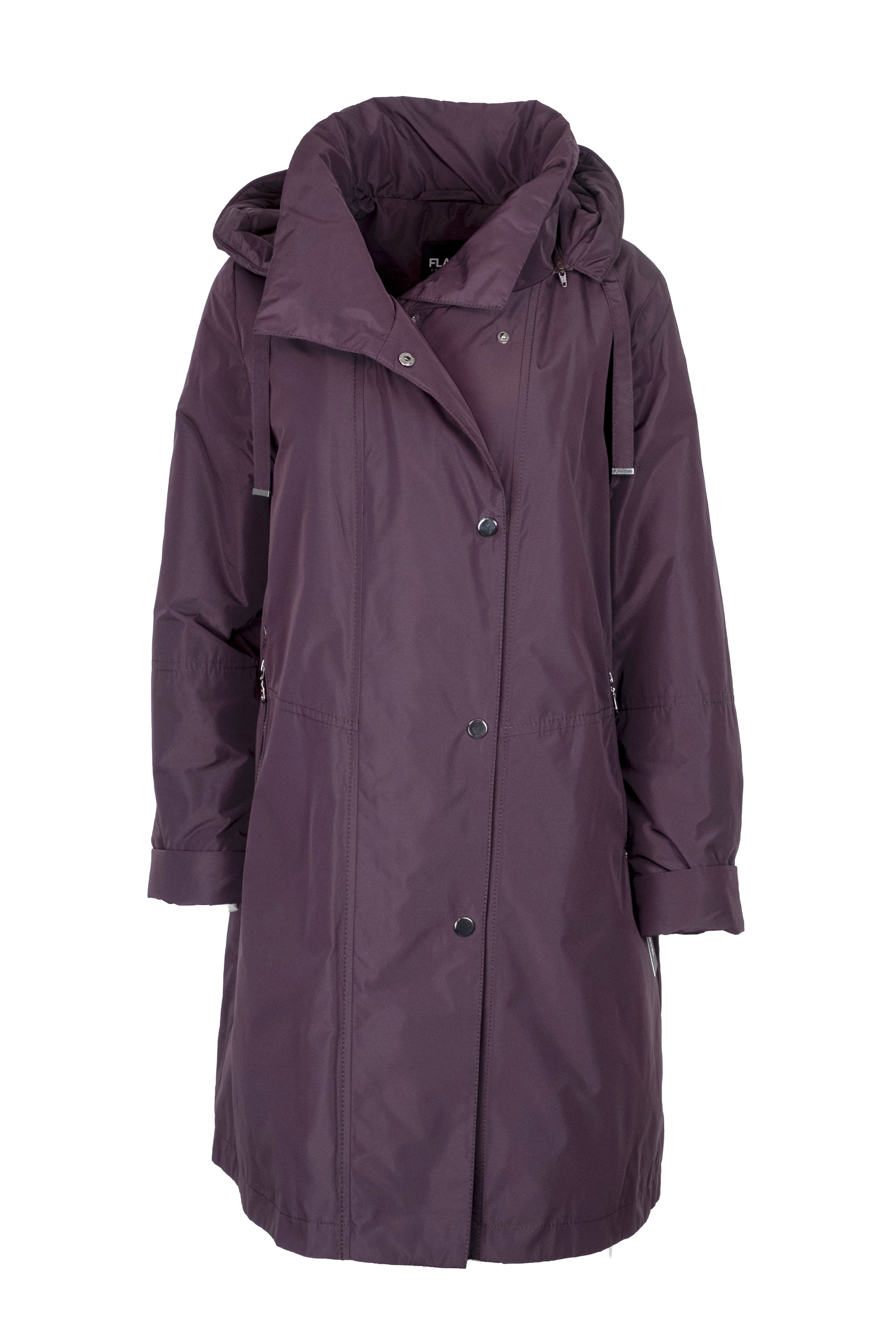 Flare Collection winterjas 3346 aubergine paars