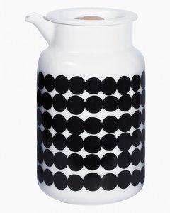 Marimekko servies Oiva kannetje wit/zwart 5 dl 066681-190