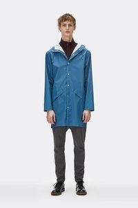 Regenjas Rains rainwear model Long Jacket man unisex kleur faded blue