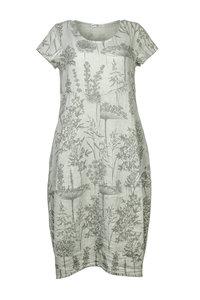 Blueberry Italia linnen jurk grijs 9088-45