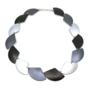 Otracosa Ketting zwart/antraciet/zilverC250