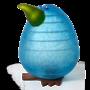 Glasstudio Borowski Kiwi Egg Light Blue
