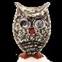 Glasstudio Borowski Vaas Owl Beige