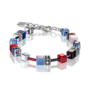 Coeur de Lion Armband 2838/ /0703 Blue-Red