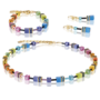Coeur de Lion Armband 2838/ /1573 Multicolor Rainbow-Gold 2